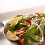 Fresh Colorado Spinach Salad with a Delicious Mustard Dressing